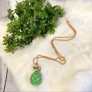Rhinestone Pineapple Necklace